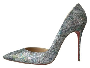 Christian Louboutin Iriza Glitter Pigalle Follies Gold Pumps