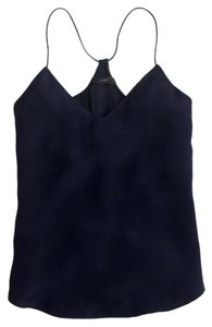 J.Crew Silk Top Navy