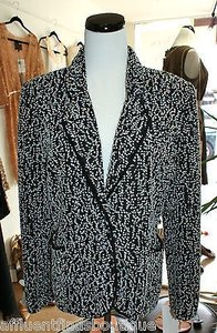 Carlisle Carlisle Black White Tweed Jacket