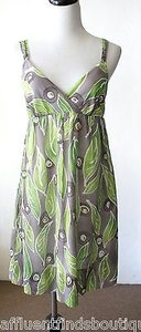 Vince short dress Multi-Color Gray And Green Leaf Print on Tradesy