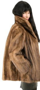 Saga Furs Fur Black Mink Fur Coat