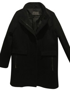 Mango Stadium Funnel Neck Wool Pea Coat