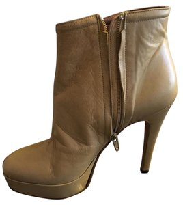 Barneys Co-Op Leather Platform Bootie Boot Camel Boots