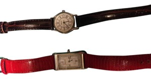 Tiffany & Co. Tiffany Classic Silver Tank Watch with new Tiffany Red Alligator Band!