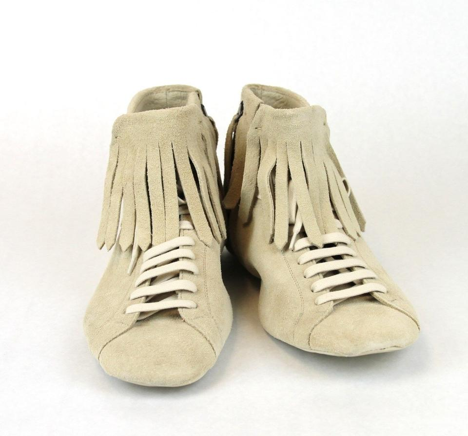 5 It 9904 Beige 43 5 Shoes Suede Bottega 312341 Veneta Us 10 Sneaker Boot Fringe YqPTwqx