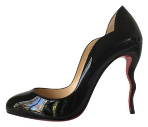 Christian Louboutin Wawy Dolly Wave Dorissima Patent Black Pumps
