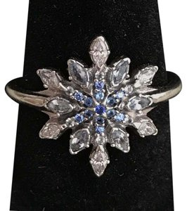 PANDORA SALE-12/11 PANDORA Crystalized Snowflake, Blue Crystals & Clear CZ