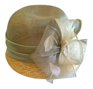 Hat Sage Green, Straw/Sinamay