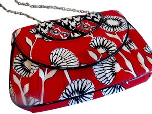 Vera Bradley Red ,Black & White Clutch
