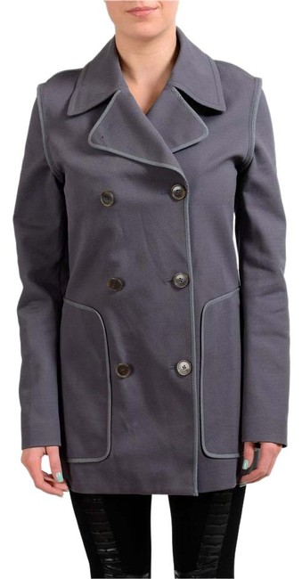 Item - Gray Double Breasted Women's Basic Jacket Size 4 (S)
