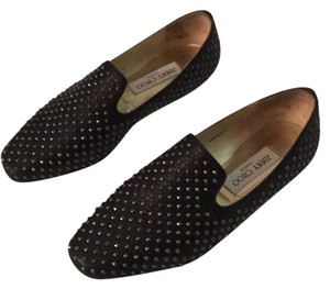 Jimmy Choo Black with silver studs Flats