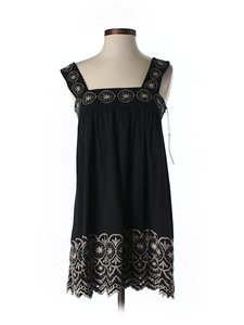 BCBGMAXAZRIA Lace Trim Eyelet Sleeveless Tunic