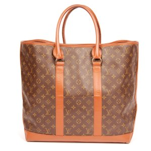Louis Vuitton Sac Weekend Brown Travel Bag
