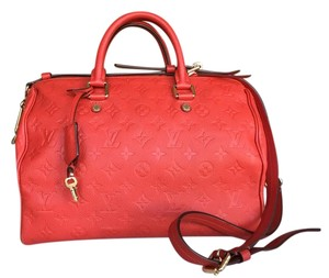 Louis Vuitton Satchel in Orange Red