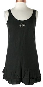 Twelfth St. by Cynthia Vincent short dress Black Drop Waist Ruffle Cupro Sleeveless Embellished on Tradesy