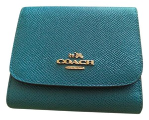 Coach Coach French Purse Wallet in French Blue w Silver Hardware nwt!