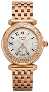 Michele NEW MIchele Caber Diamond Rose Gold MOP Dial MWW16A000044 Ladies Watch