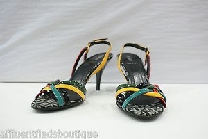Fendi Strappy Heels 3712 Or Multi-Color Pumps