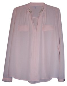 Candie's Work Wedding Casual Night Out Party Top Peach