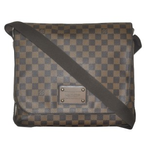 Louis Vuitton Brooklyn Mm Damier Ebene Messenger Brown Messenger Bag