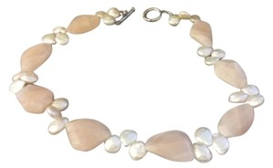 Other Huge Rose Quartz and Pearl Necklace