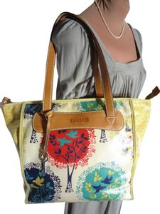 Fossil Clean Fun Tote in MULTI COLOR + TREES AND BIRDS