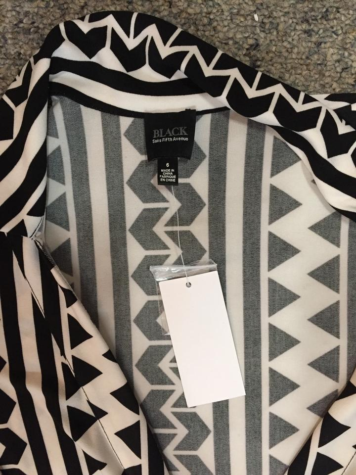 5a84f132459 Saks Fifth Avenue Black and White Wrap Romper Jumpsuit - Tradesy