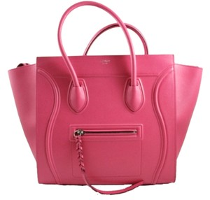 Céline Phantom Fuchsia Grained Leather Tote in Pink