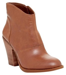 Jessica Simpson Leather Bootie Bourbon Brown Boots