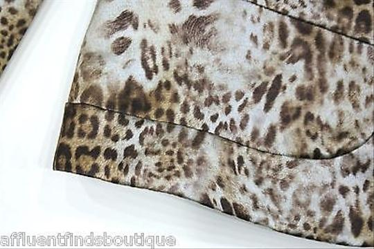 Lafayette 148 New York Lafayette 148 Brown Silver Animal Print Jacket on sale