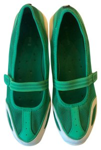 Lands' End Green White Flats