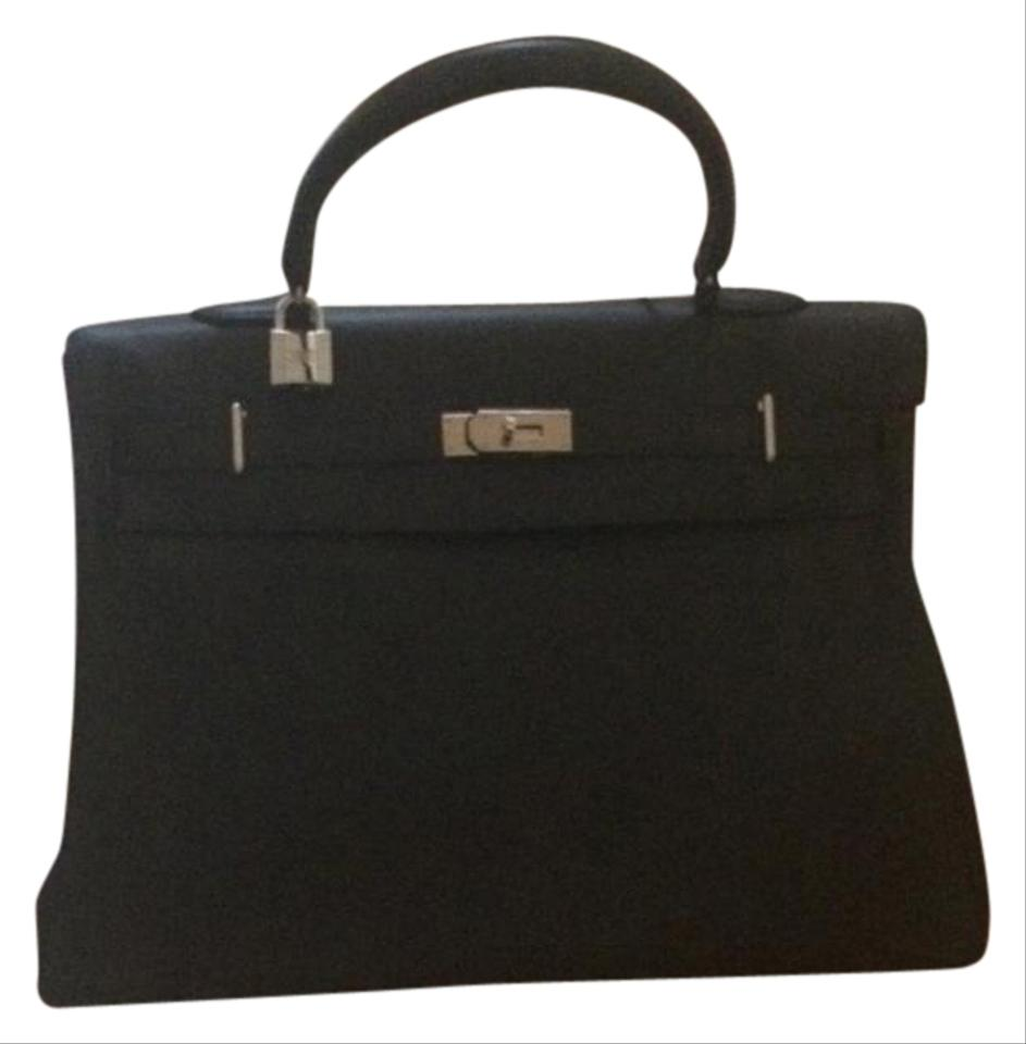 Hermès Kelly Relax Black Leather Weekend Travel Bag - Tradesy e96de692ed097