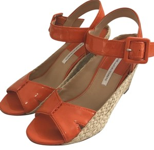 Diane von Furstenberg Orange Wedges