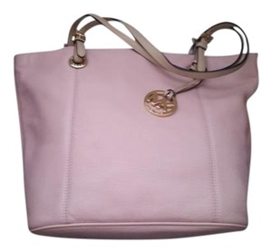 Michael Kors Leather Satchel in Light Pink