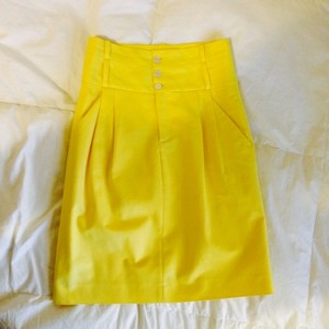 Zara Canary Skirt Canary Yellow