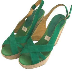 Bettye Muller Green Wedges