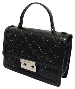 Michael Kors Quilted Micro Studded Leather Cross Body Bag