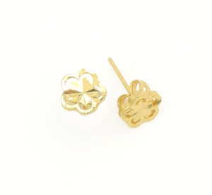 18KT Gold Filled Fantasy Cut Clover Stud Earring