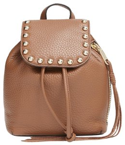 Rebecca Minkoff Almond Leather Micro Unlined Backpack Brown Messenger Bag