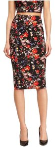Express Floral Floral Skirt Multi