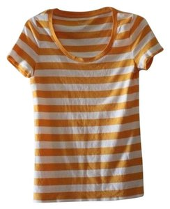 Merona T Shirt Orange, white
