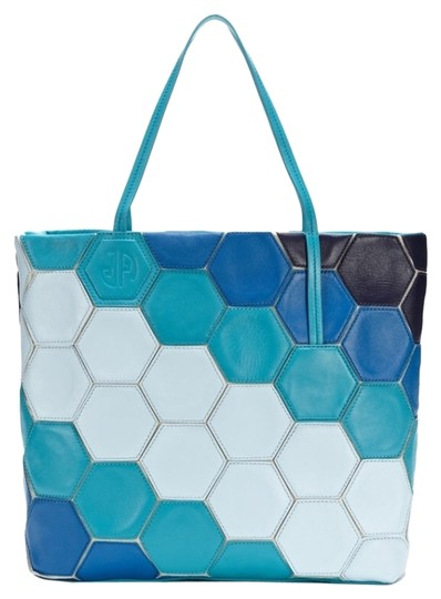 Preload https://item2.tradesy.com/images/jonathan-adler-countess-honycomb-blue-multi-leather-tote-2011271-0-0.jpg?width=440&height=440