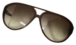 Max Mara Max Mara Aviator Sunglasses with Brown Gradient Lens