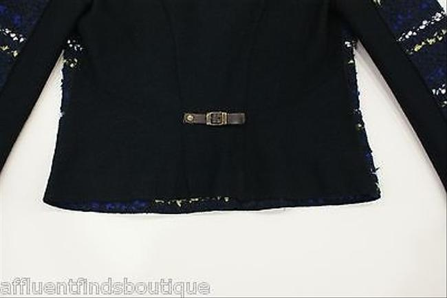 Marc Cain Navygreen Stripe Boucle N4 Navy Jacket