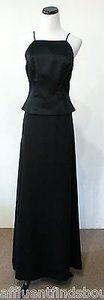 Vera Wang Black Satin Evening Skirt Blacks