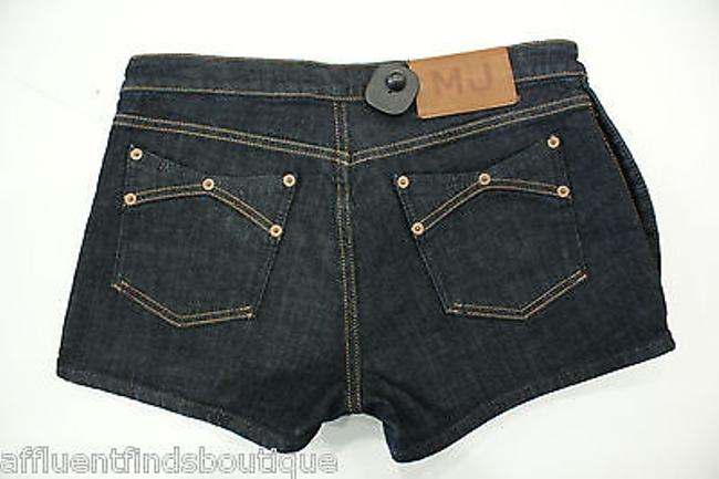 Marc by Marc Jacobs Dark Denim Button Side Jean Shorts Blue