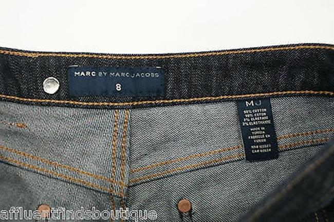Marc by Marc Jacobs Dark Denim Side Jean Shorts Blue