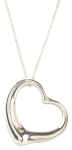 Tiffany & Co. Tiffany & Co Sterling Elsa Peretti Open Heart Pendant Necklace