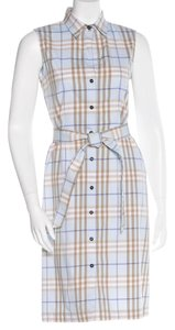 Burberry short dress Beige, Black, Blue Nova Check Plaid Monogram on Tradesy