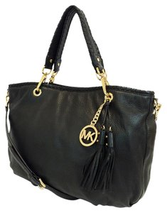Michael Kors Bennet Large Leather Tote in Black